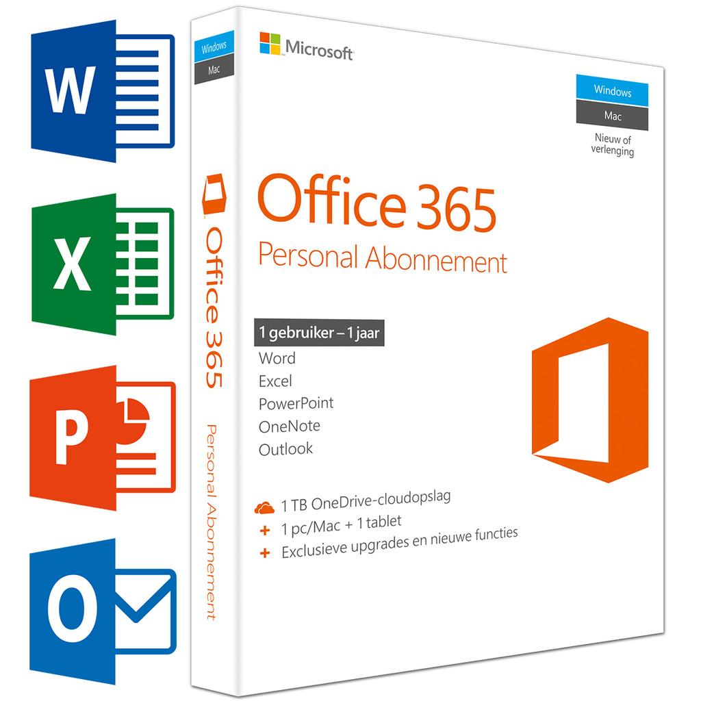 Microsoft Office 365 Personal 1 jaar abonnement NL in Villers-l'Evêque