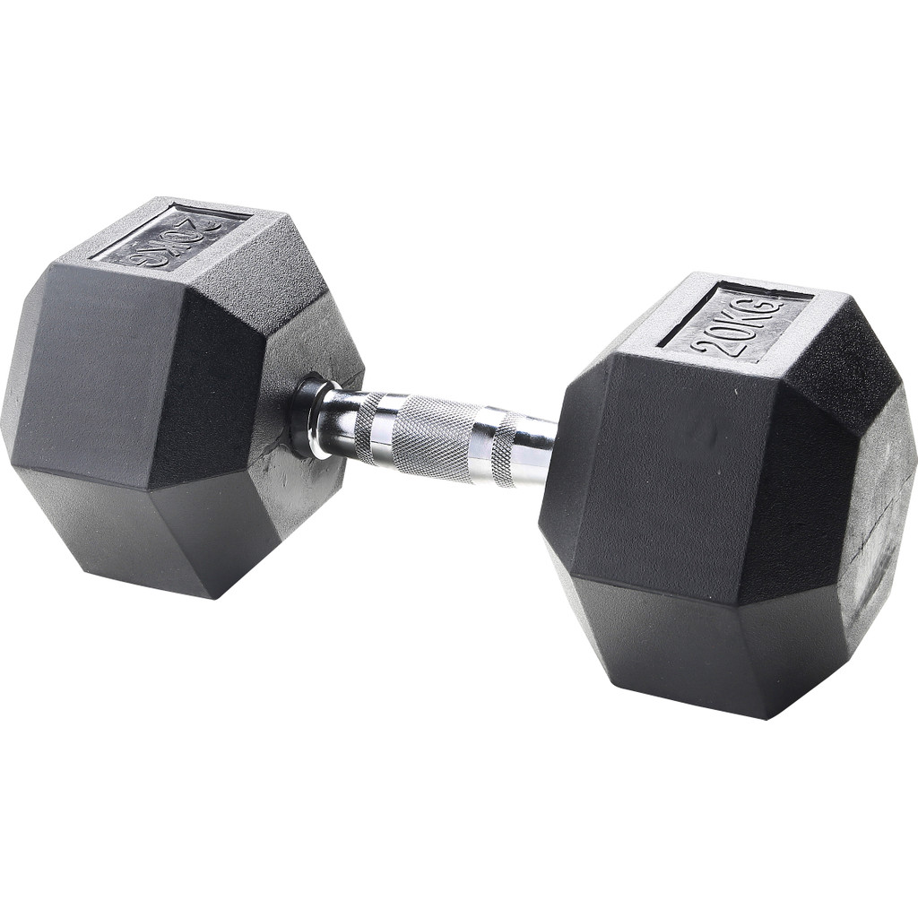Body Sculpture Hexa Rubber Dumbbell 1x 20 kg in Meteren