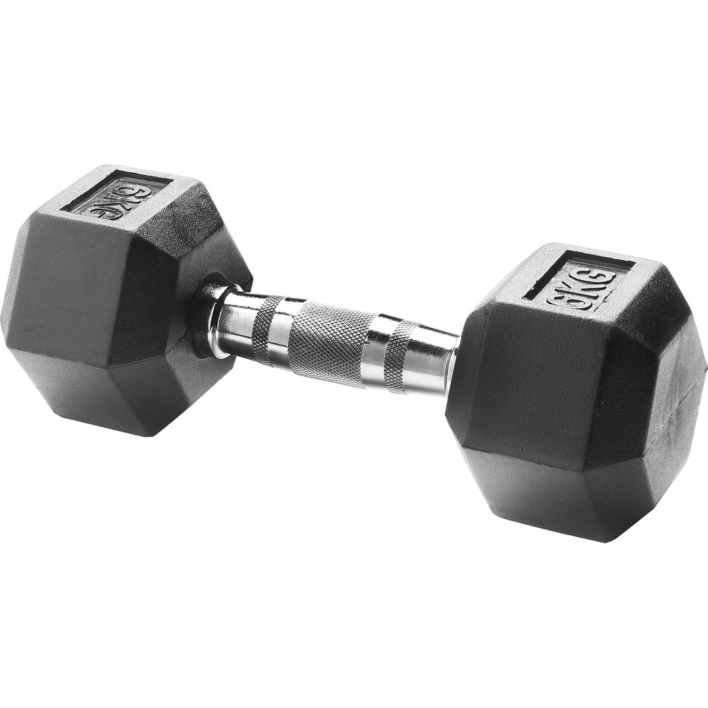 Body Sculpture Hexa Rubber Dumbbell 6 kg