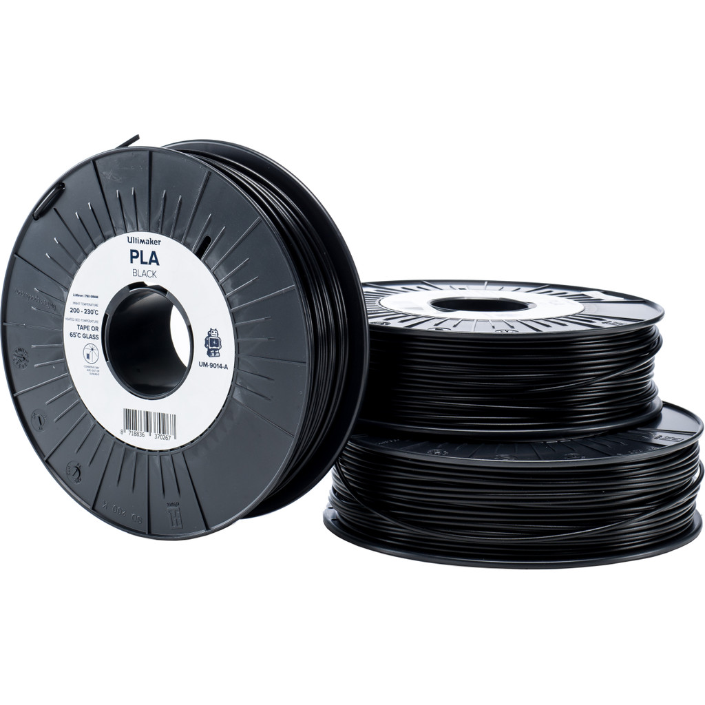 Ultimaker PLA Zwarte Filament 2.85 mm (0,75 kg) in Leuvenum