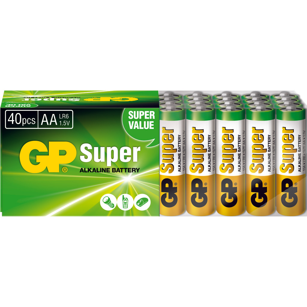 GP Super Alkaline 40-pack AA in Horebeke