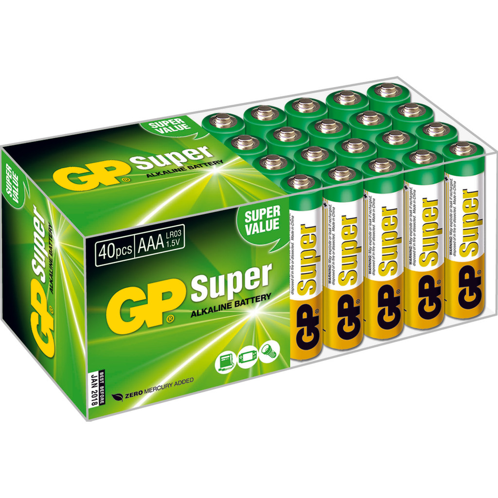 GP Super Alkaline 40-pack AAA in Etzenrade