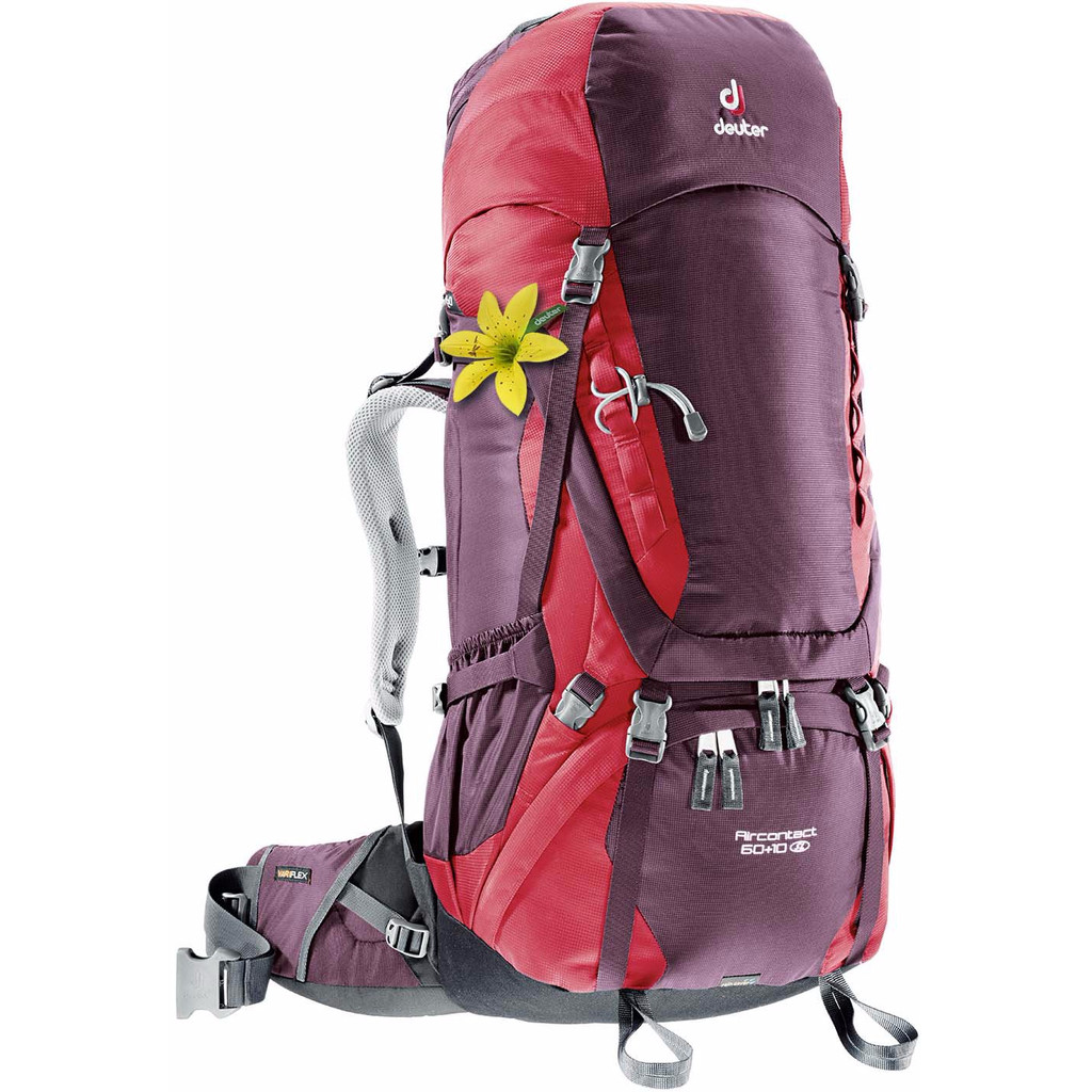 Deuter Aircontact 60 + 10 SL Aubergine/Cranberry in Anloo