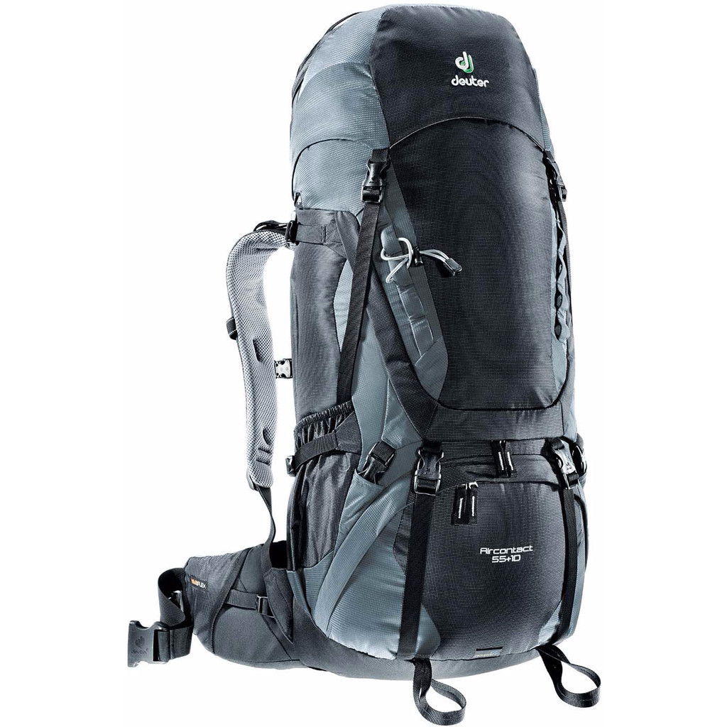 Deuter Aircontact 55 + 10 Black/Titan in Mantgum