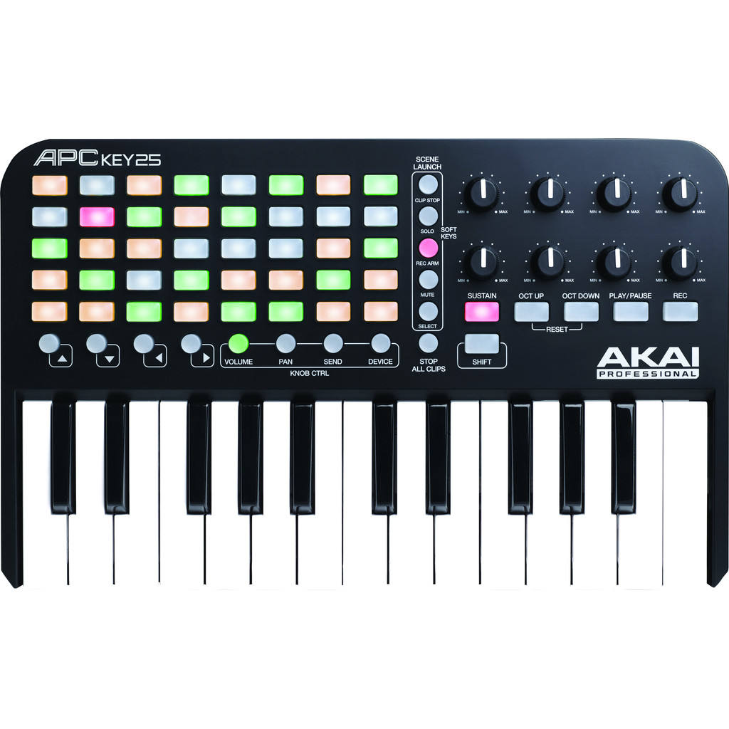 AKAI APC KEY 25 controller met klavier voor Ableton