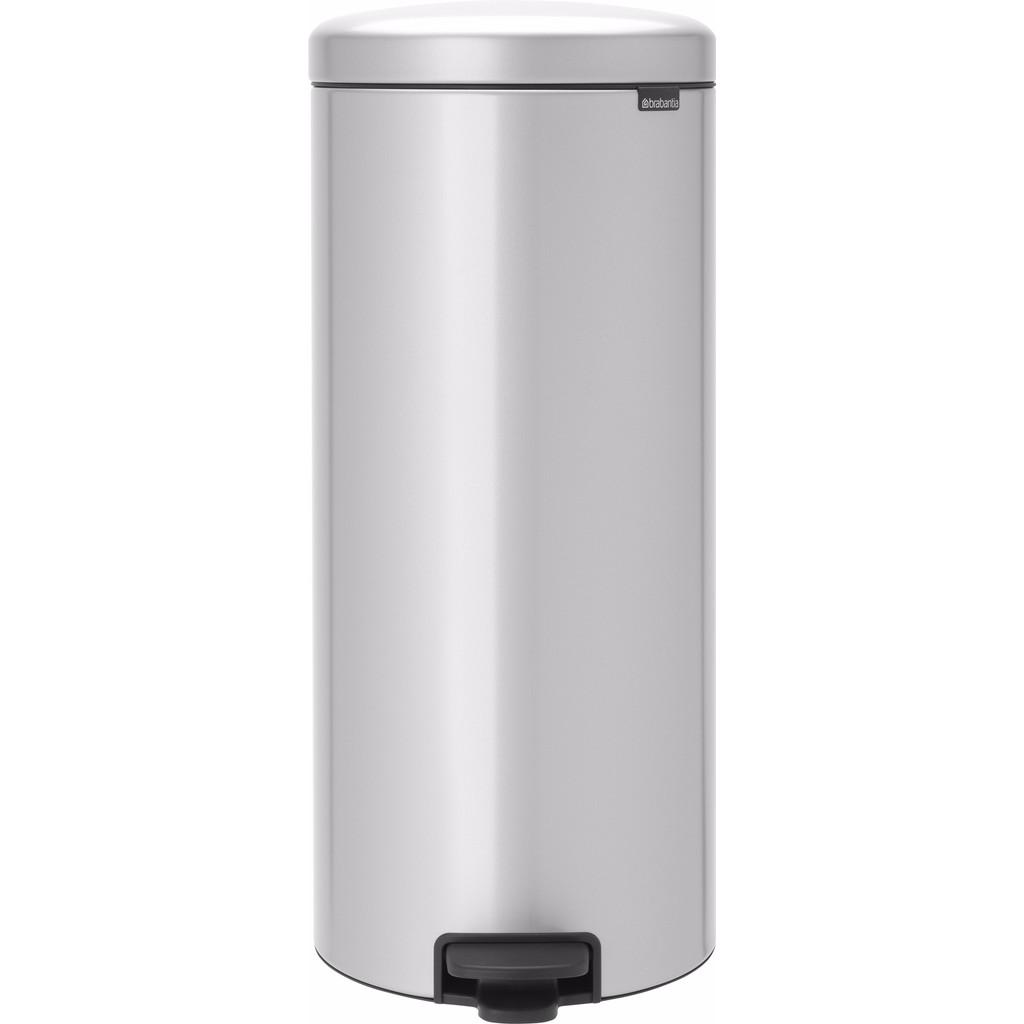 Brabantia NewIcon Pedaalemmer 30 Liter Metallic Grijs
