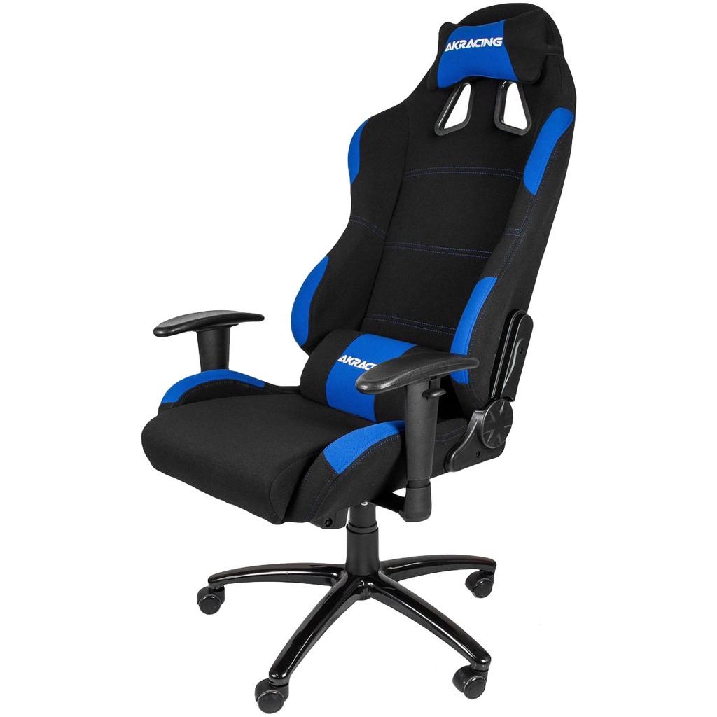 Afbeelding van AK Racing gaming Chair Zwart / Blauw stoel
