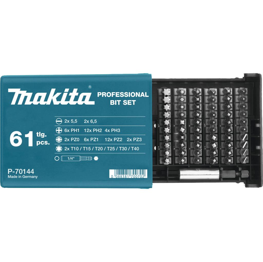 Makita 61-delige Bitset P-70144 in Hogebrug