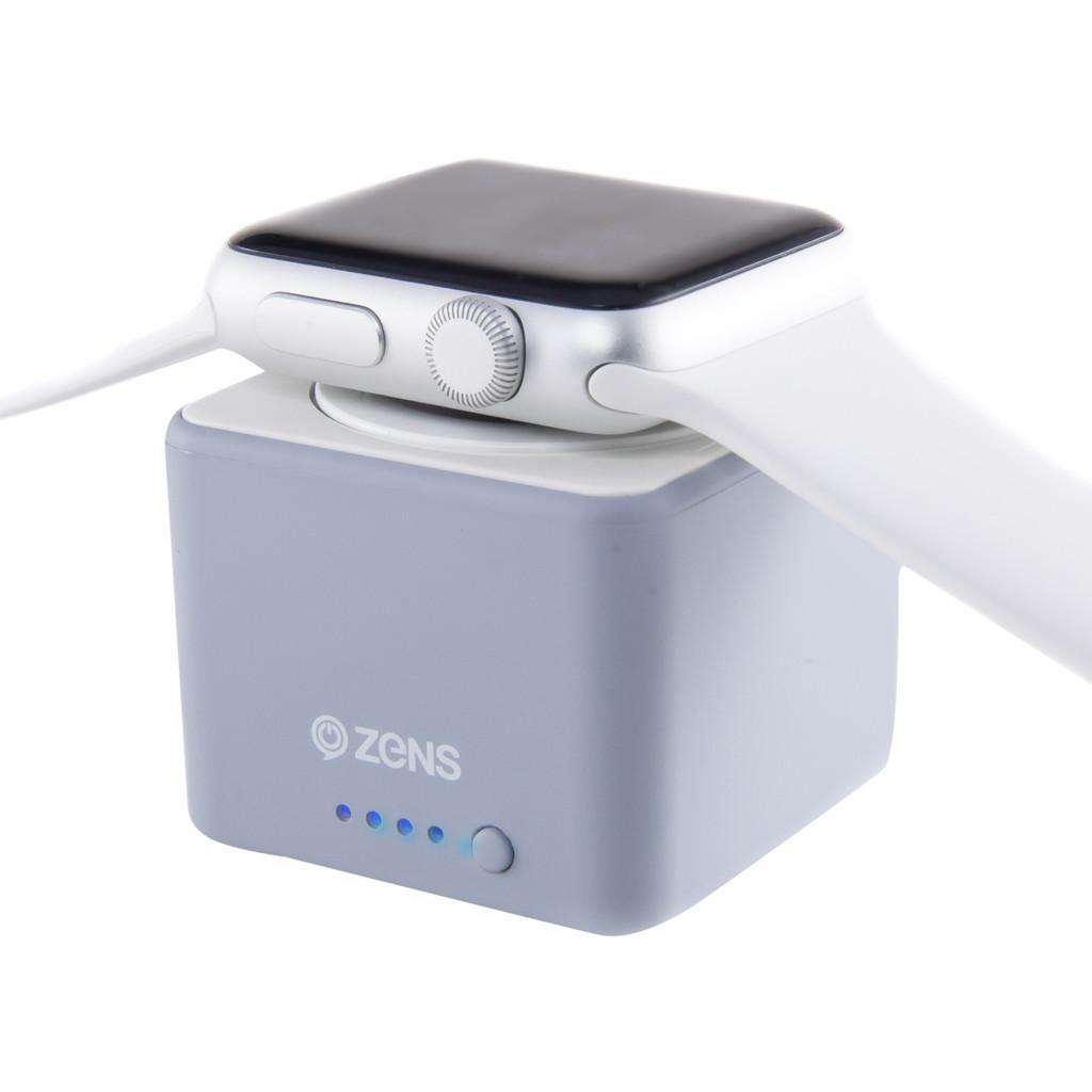 Zens Apple Watch Powerbank Grijs kopen