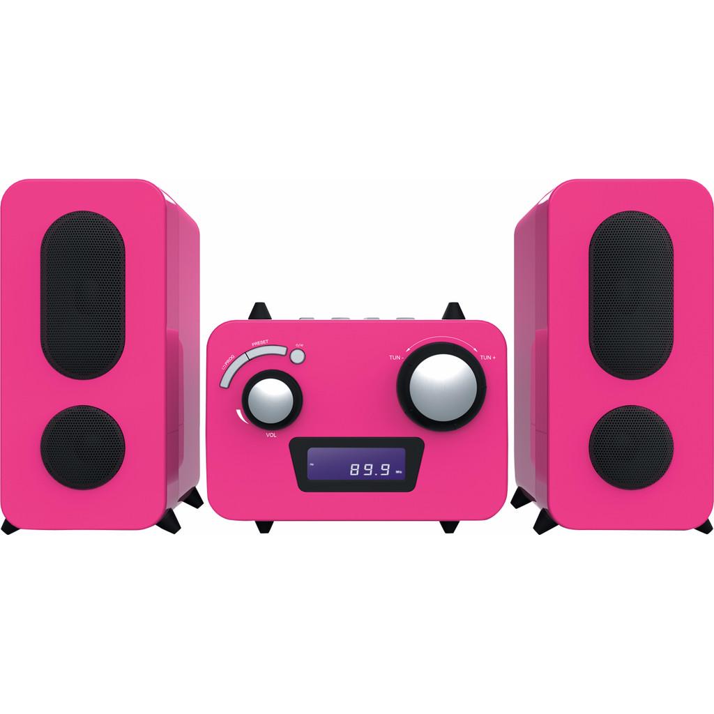 Bigben Microset Radio/CD Speler Roze in Vijfhuizen
