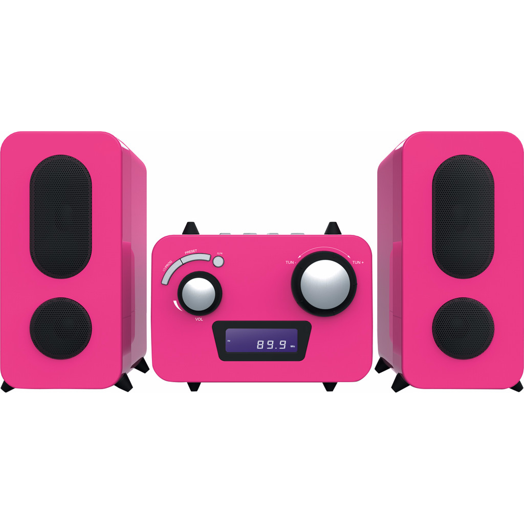 Bigben Microset Radio/CD Speler Roze in Walem