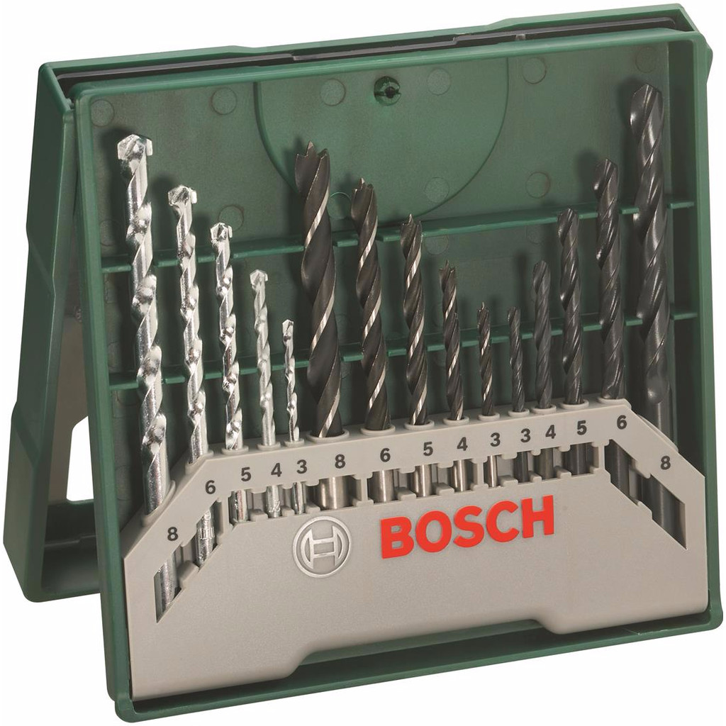 Bosch 15-delige Borenset in Breehees