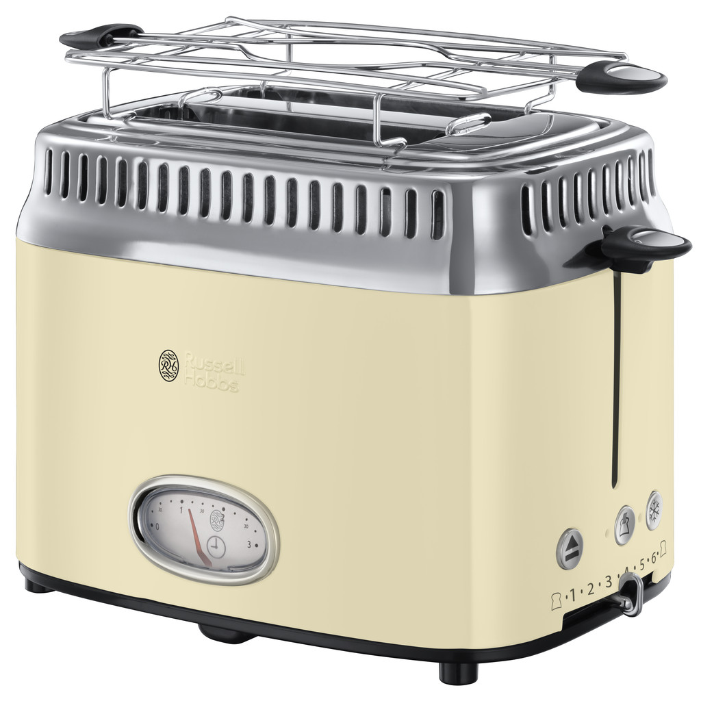 Russell Hobbs Retro Vintage Creme Broodrooster in Marchipont