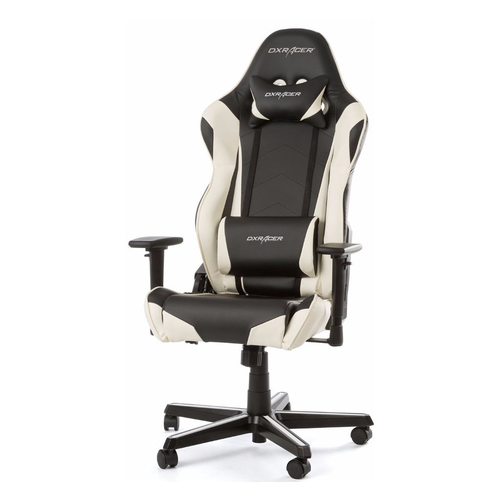 DX Racer RACING Gaming Chair Zwart/Wit in Hurwenen