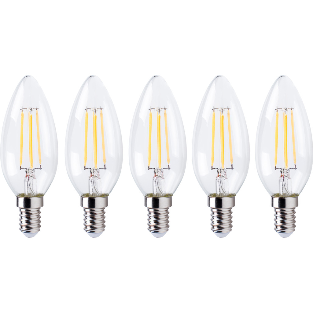 XQ LITE XQ1562 LED-Lamp Kaars E14 4W Dimbaar (5x) in Vitrival