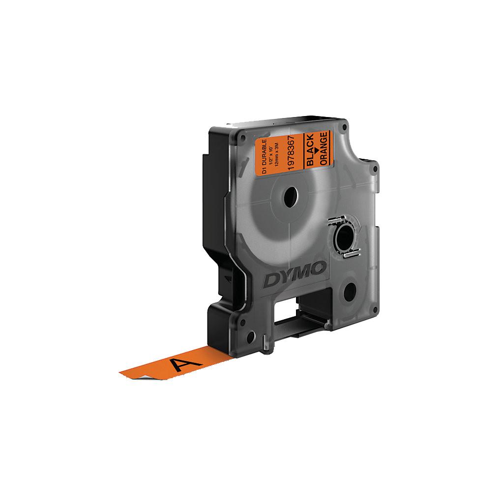 Dymo LW Duurzame D1 Label Zwart-Oranje (12 mm x 3 m) in De Hoef