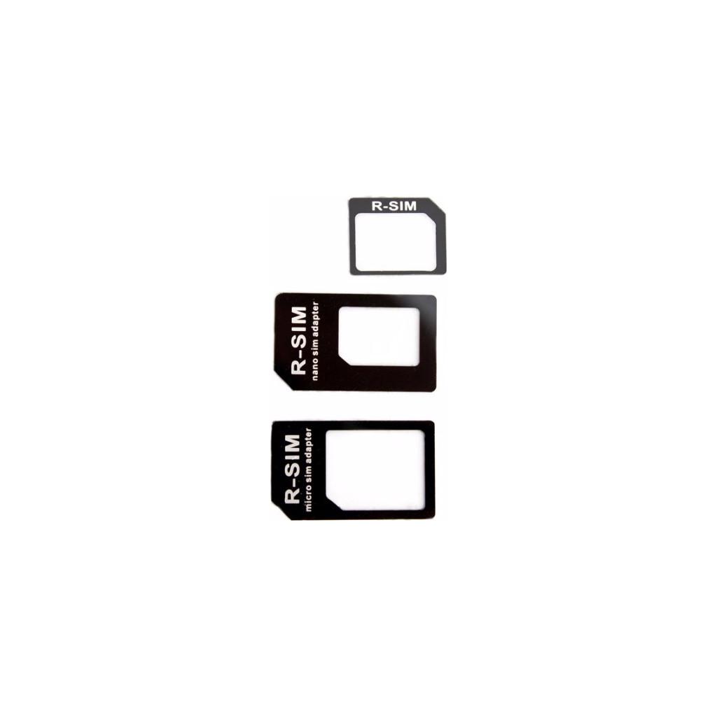 Xqisit 3-in-1 Sim Adapter Nano en Micro