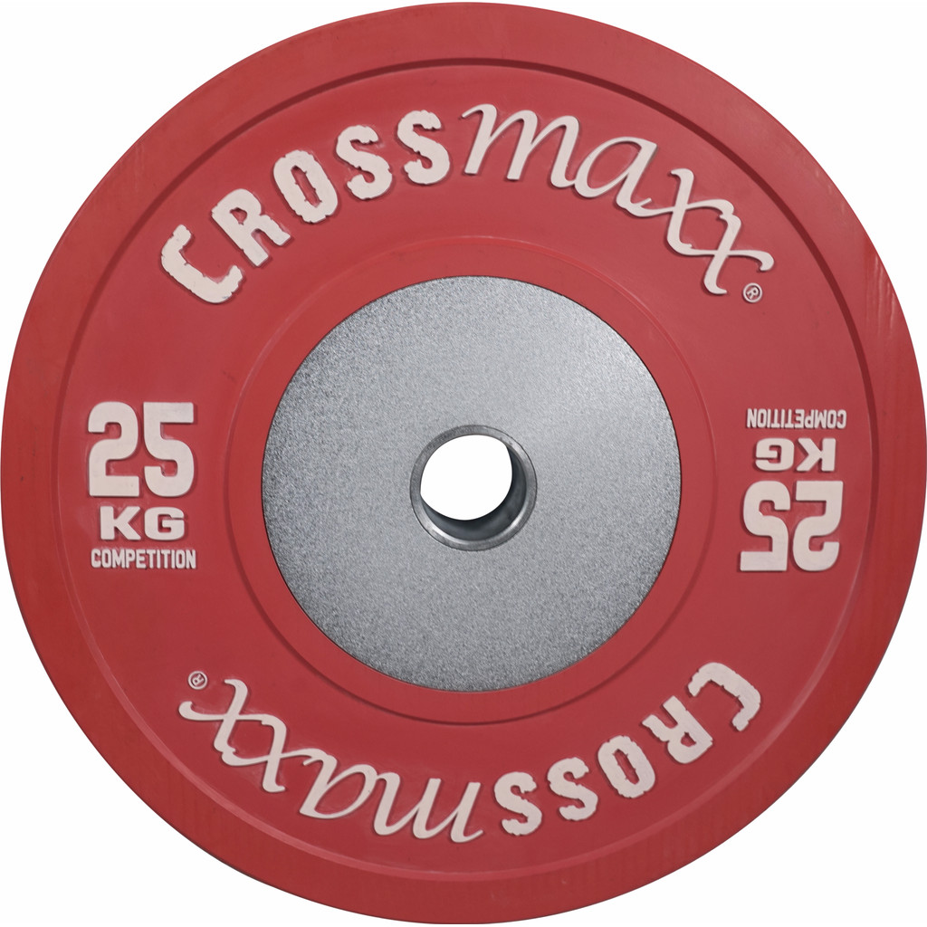 Crossmaxx Competition Bumper Plate 25 kg Red in Wissenkerke