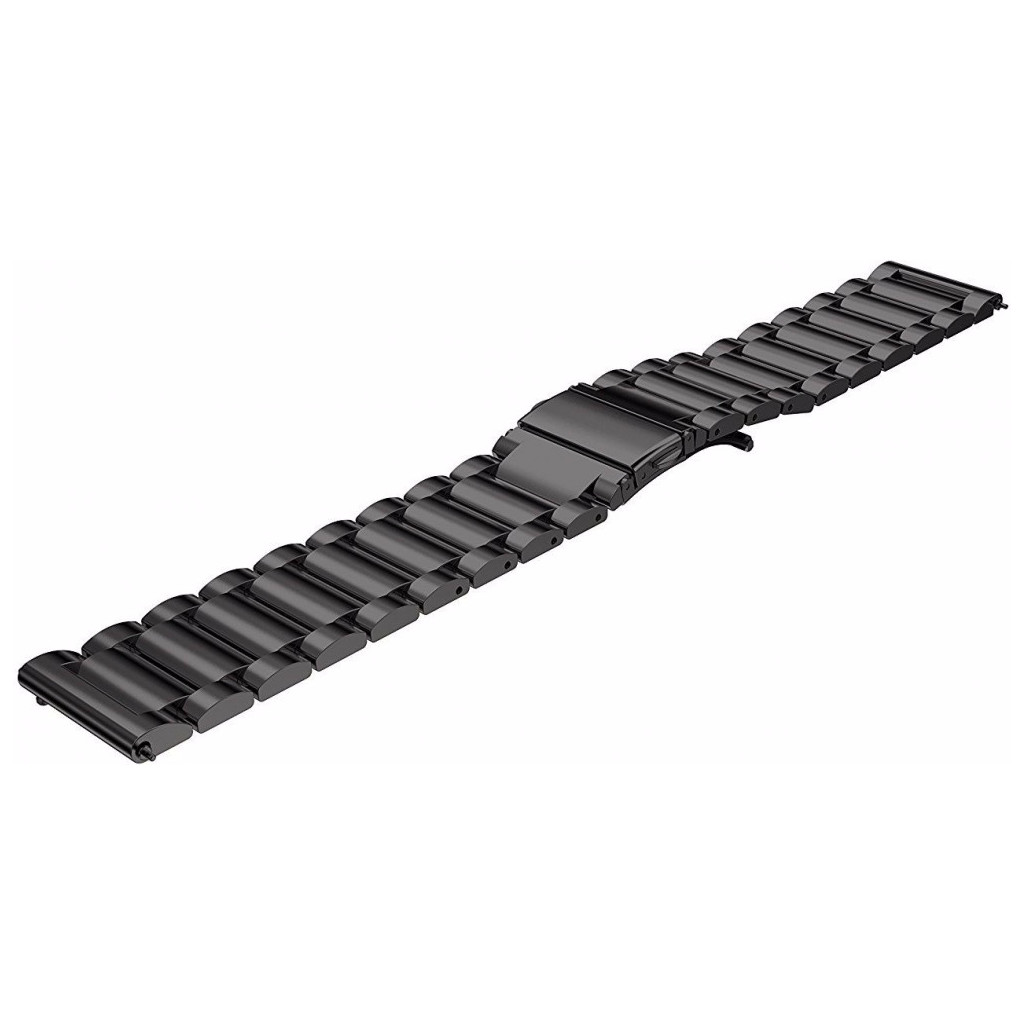 Just in Case Samsung Gear S3 Stainless Steel Watchband Black in De Haar