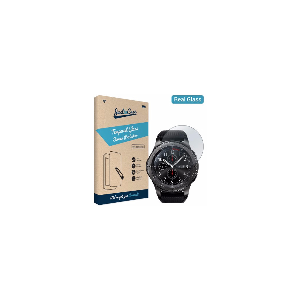 Just in Case Tempered Glass Samsung Gear S3 in De Kade