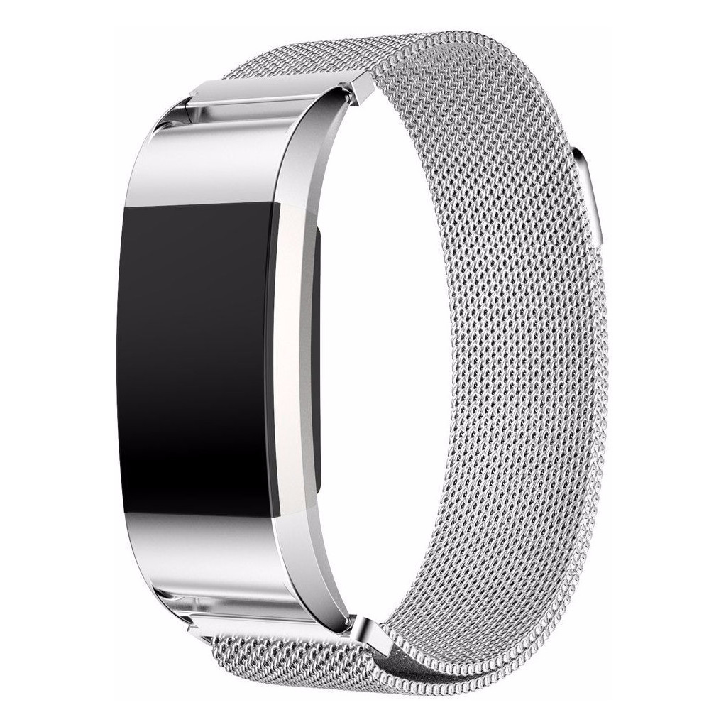 Just in Case Fitbit Charge 2 Milanees Watchband Silver kopen