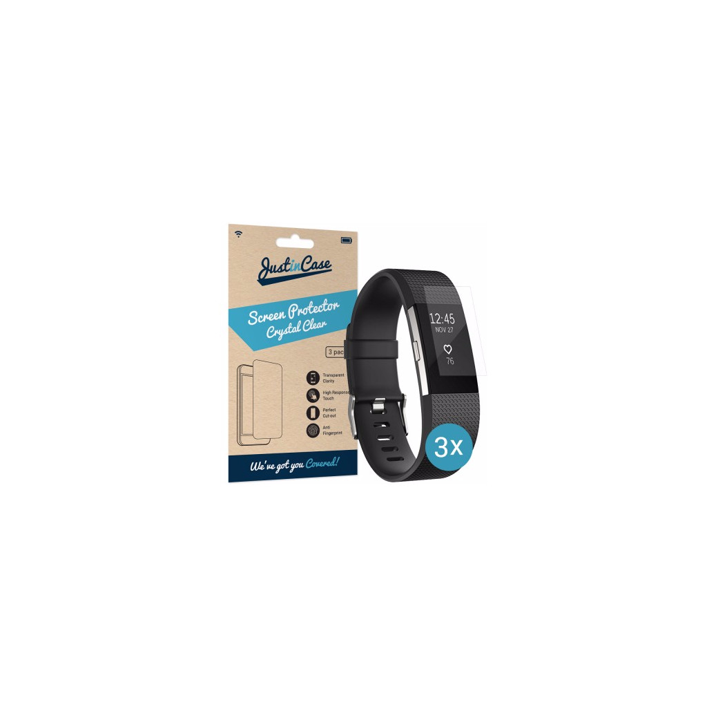 Just in Case Screen Protector Fitbit Charge 2 - 3 pack in Scherpenisse