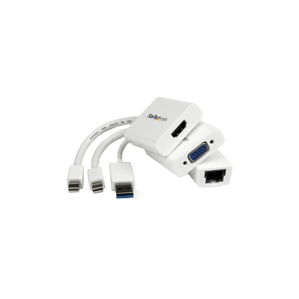 StarTech.com Macbook Air Accessories Kit MDP to VGA-HDMI and USB 3.0 Gigabit Et (MACAMDPGBK)