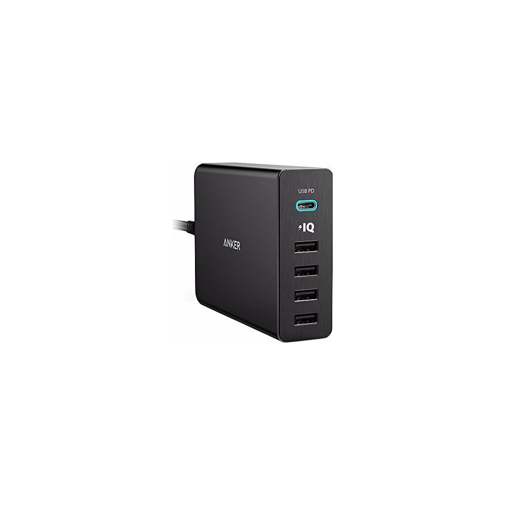 Anker PowerPort+5 met 1 USB-C en 4 USB Poorten Zwart 3A-12A in Frasnes (Nam.)