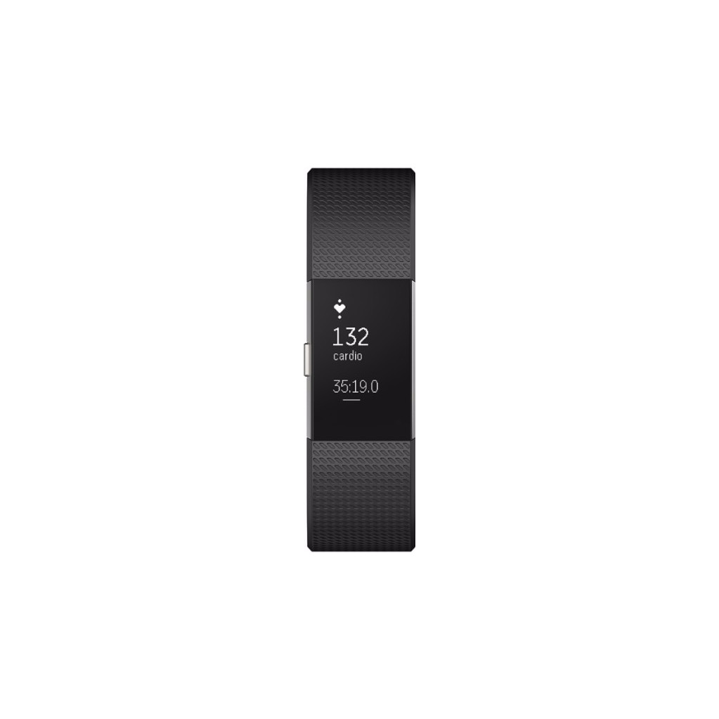 Fitbit Charge 2 Black-Silver S