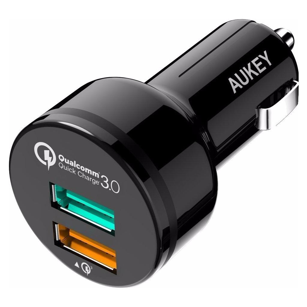 Aukey Autolader Dual USB 3,0A Zwart in Veendijk