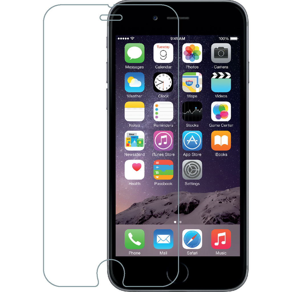 Azuri Apple iPhone 6/6s Screenprotector Gehard Glas in Spermalie