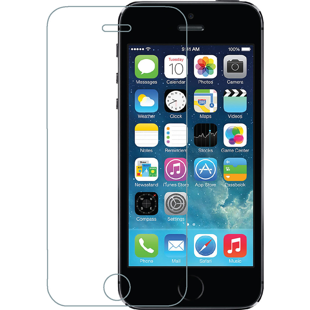 Azuri Apple iPhone 5/5S/SE Screenprotector Gehard Glas in Sirault