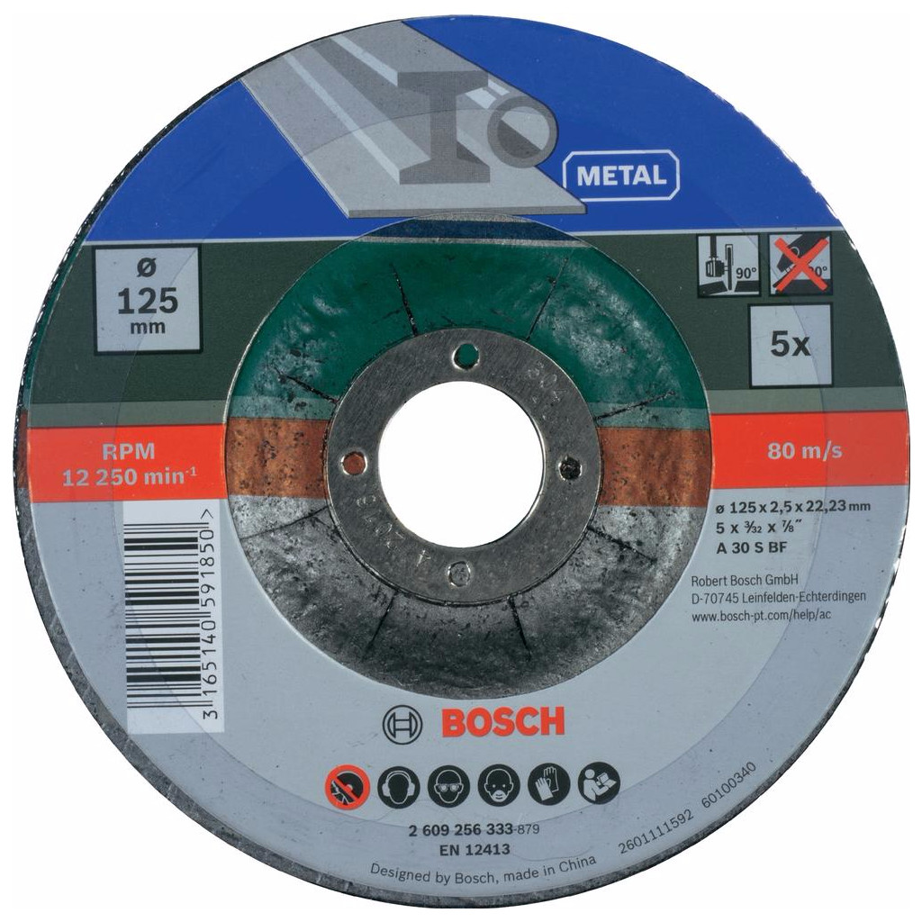 Bosch Slijpschijf Metaal 125 mm 5 stuks kopen