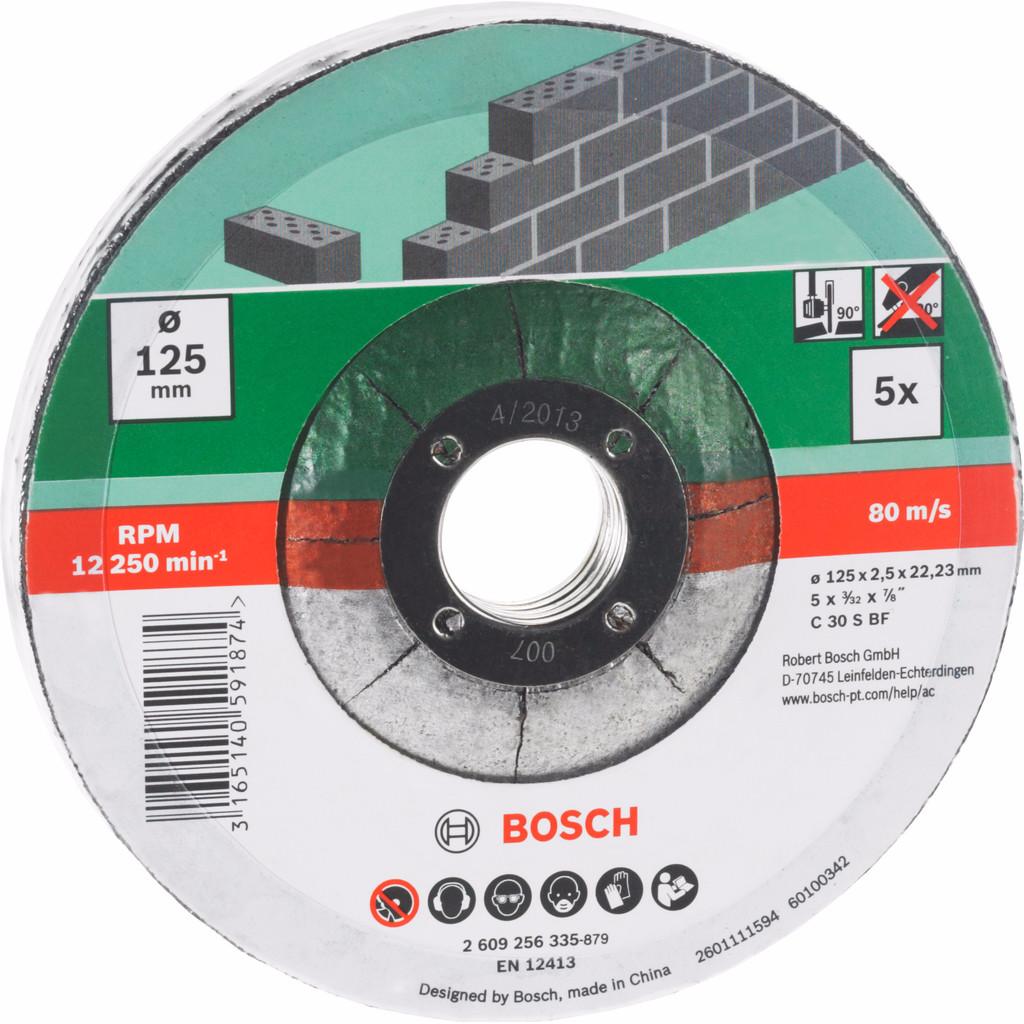 Bosch Slijpschijf Steen 125 mm 5 stuks kopen
