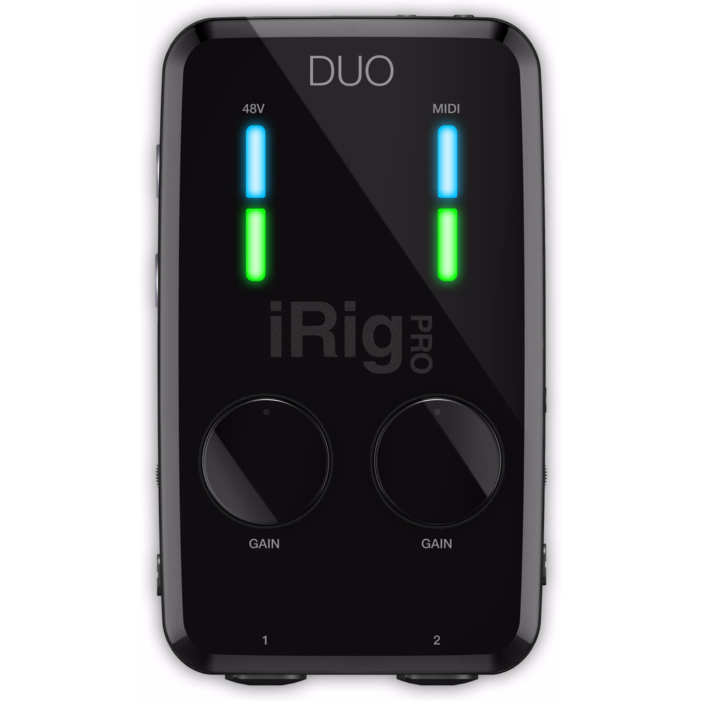 IK Multimedia iRig Pro Duo Studio Suite in Beemdkant