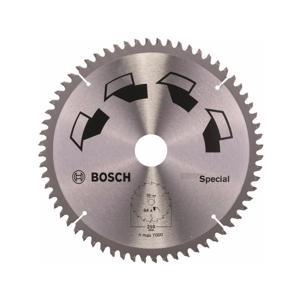 Bosch Zaagblad Special 210x30x2mm T64 in Bruinehaar