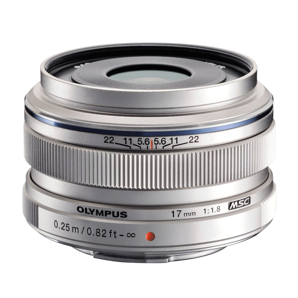 Olympus M.Zuiko Digital ED 17mm f/1.8 zilver