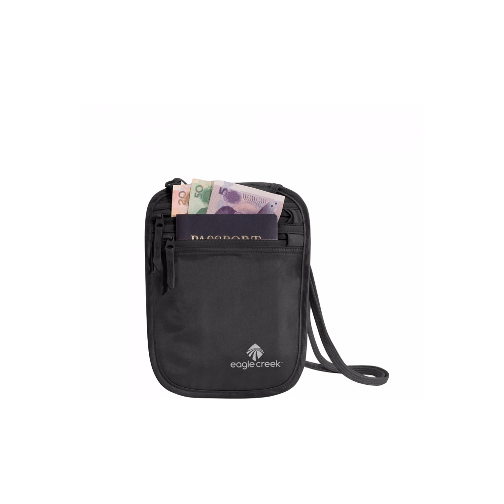 Eagle Creek Silk Undercover Neck Wallet Black in Felenne