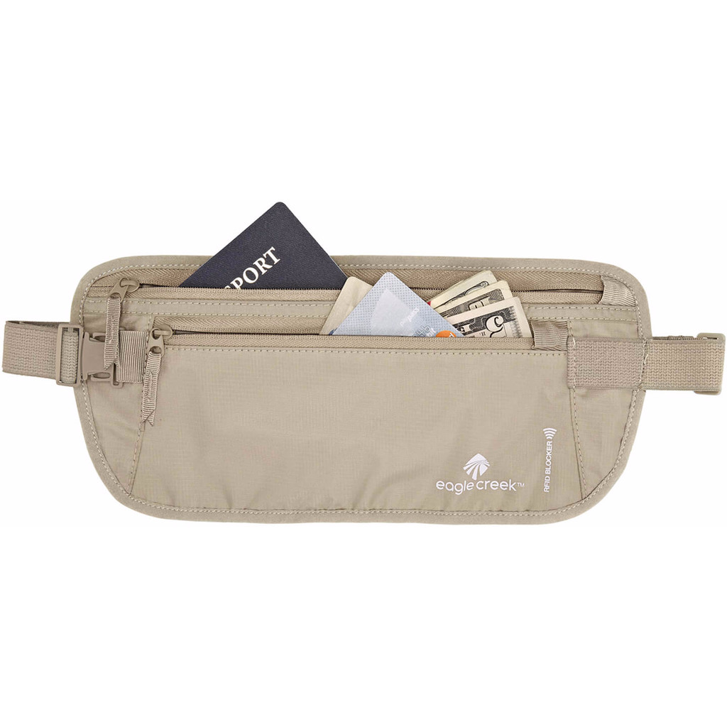 Eagle Creek RFID Blocker Money Belt DLX Tan in Schoonouwen