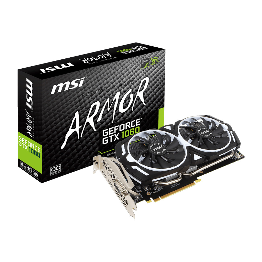MSI GeForce GTX 1060 ARMOR 6G OCV1 in Sonniuswijk