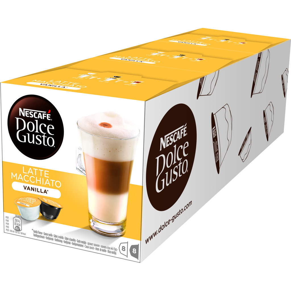 Dolce Gusto Vanille Macchiato 3 pack in 't Stort