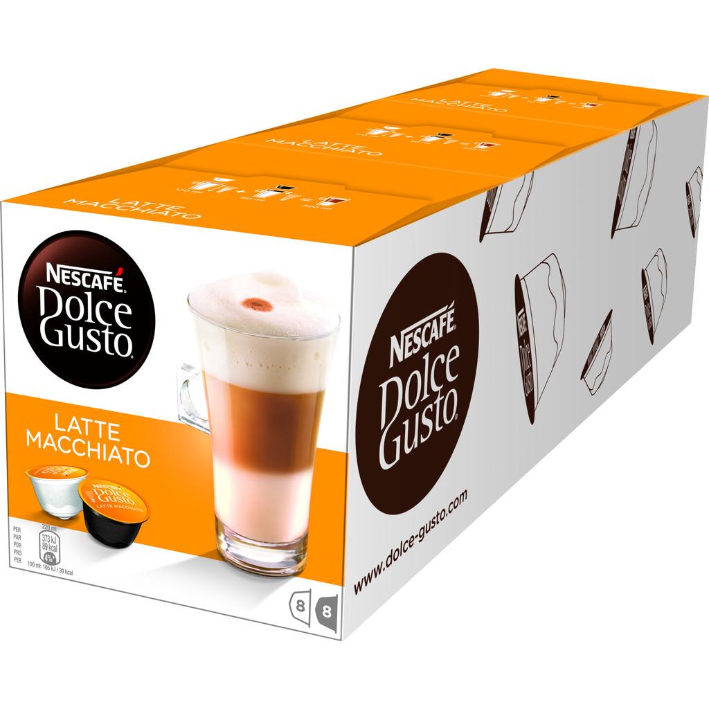 Dolce Gusto Latte Macchiato 3 pack in Brye