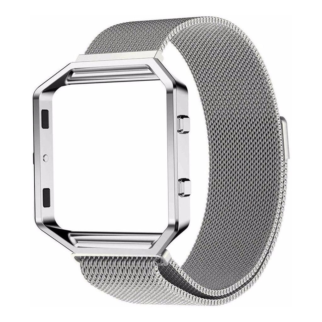 Just in Case Milanees Polsband Fitbit Blaze Zilver kopen