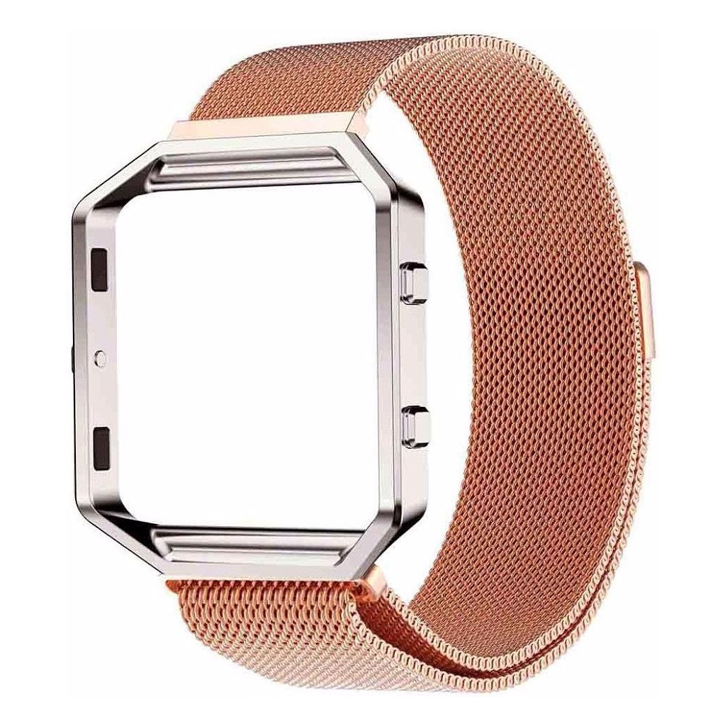 Just in Case Milanees Polsband Fitbit Blaze Rose Gold