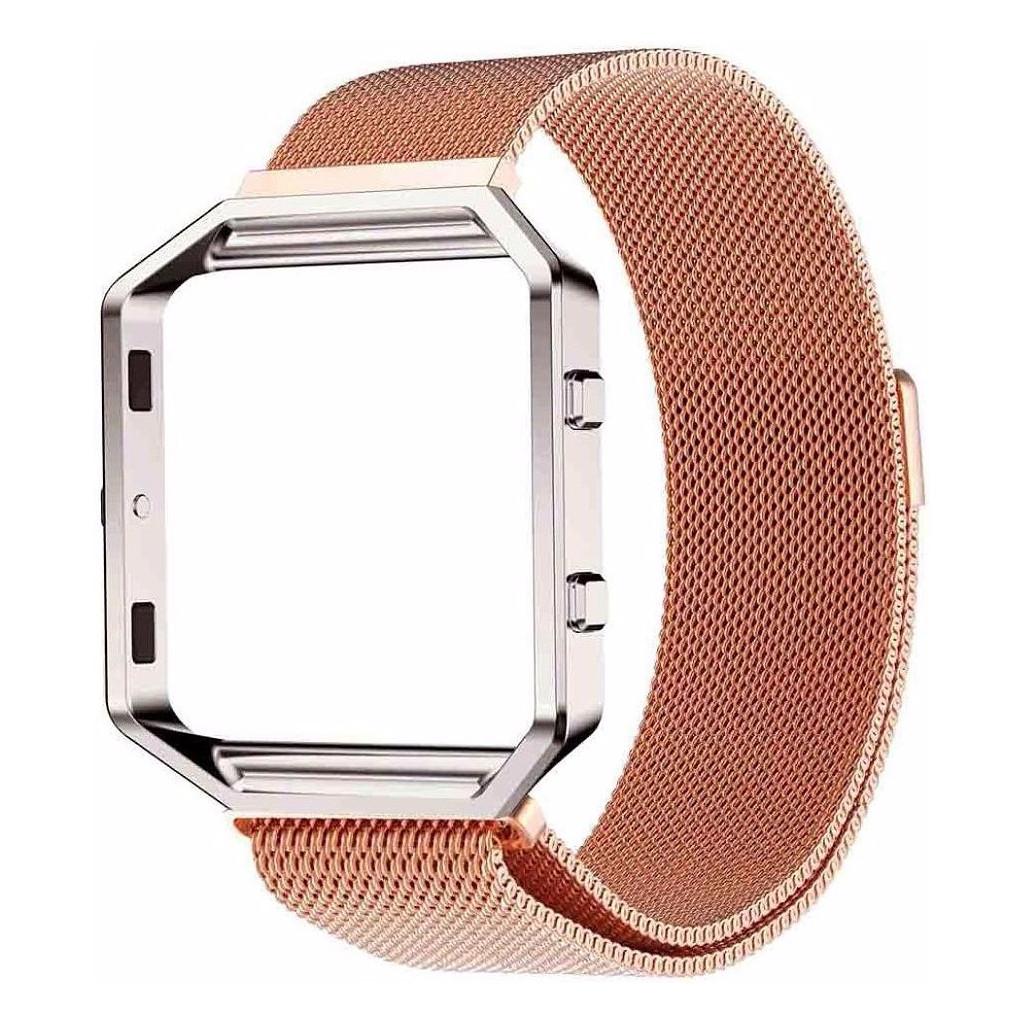 Just in Case Milanees Polsband Fitbit Blaze Rose Gold kopen