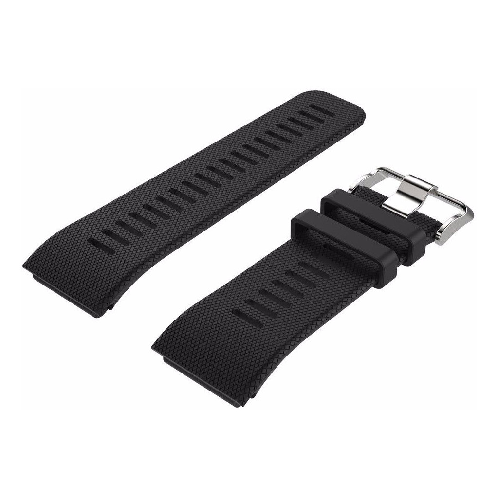 Just in Case Siliconen Polsband Garmin Vivoactive HR Zwart kopen