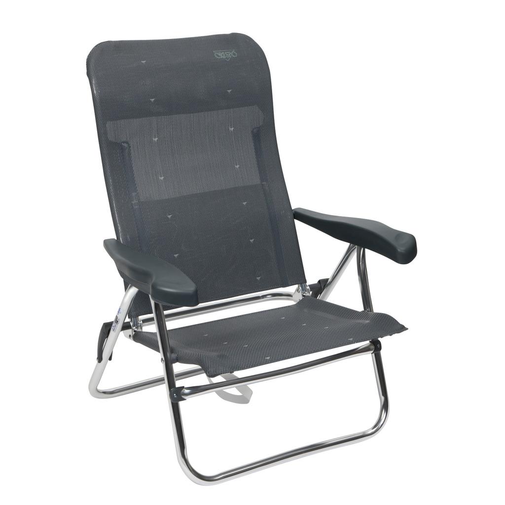 Crespo Strandstoel AL-205 Donker Grijs in Achtereind