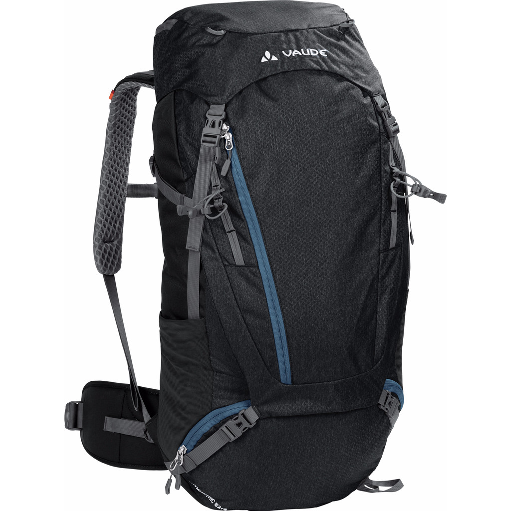 Vaude Asymmetric 52+8L Black in Oud-Dijk