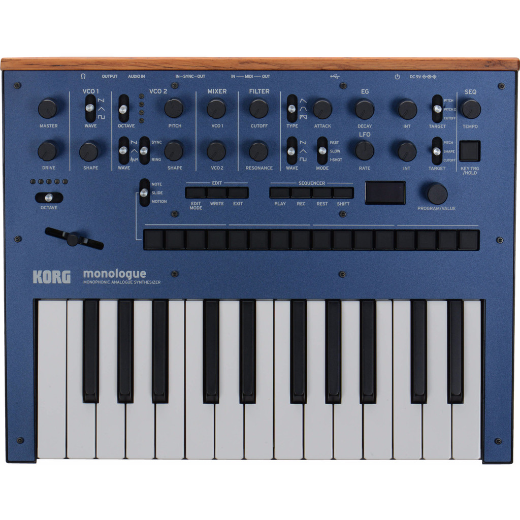 Korg Monologue Blauw in Dwingeloo