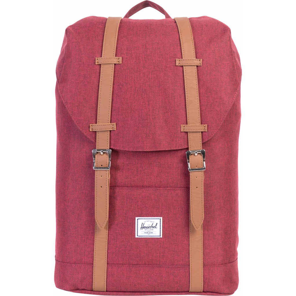 Herschel Supply Co. Retreat Mid-Volume Rugzak winetasting crosshatch-tan